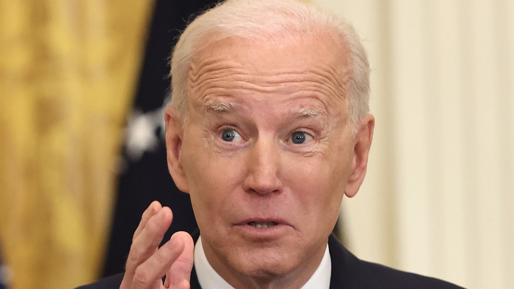 Joe Biden en una conferencia de prensa
