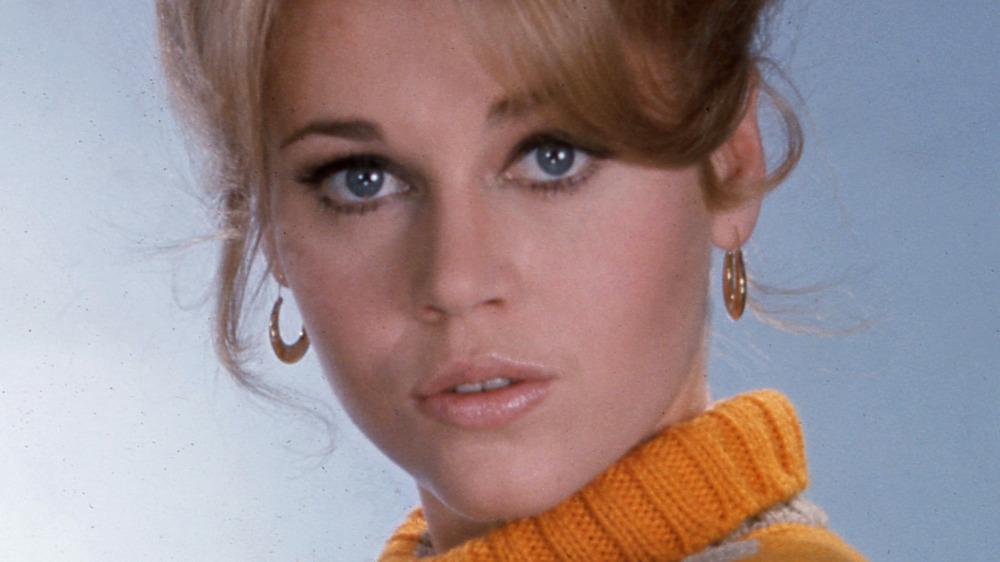 Jane Fonda posando para un retrato de 1968