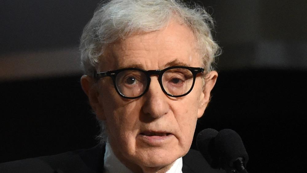 Primer plano de Woody Allen