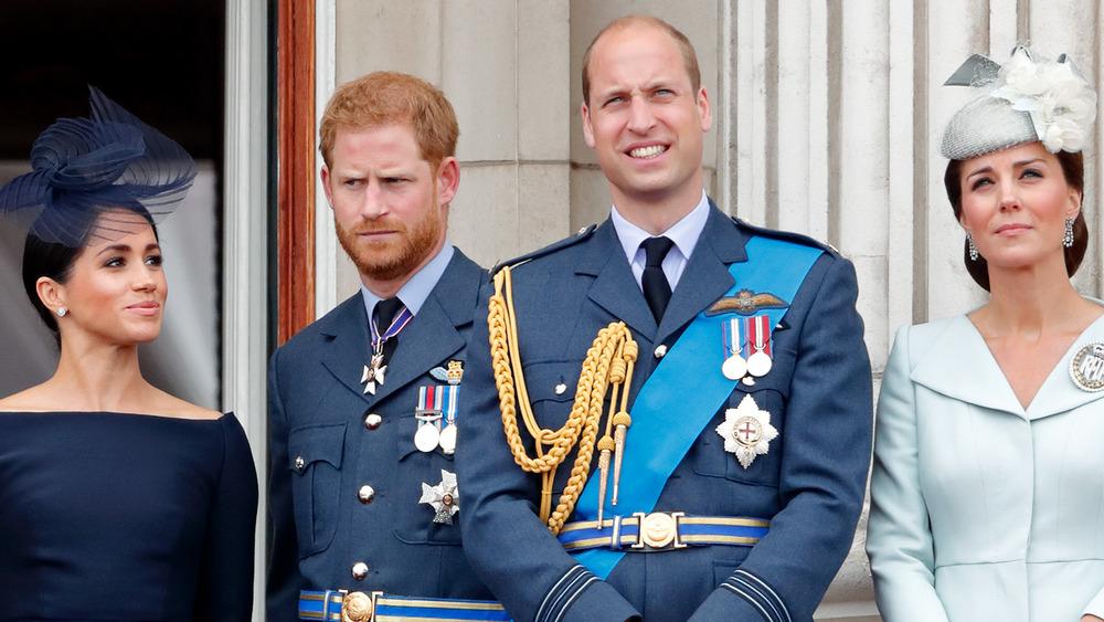 Meghan Markle, el príncipe Harry, el príncipe William y Kate Middleton juntos