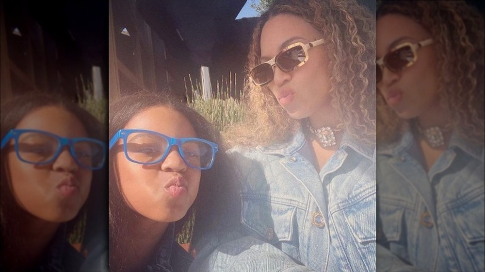 Selfie de Beyonce Blue Ivy