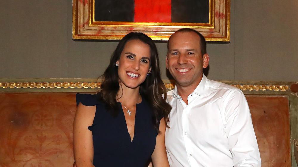 Sergio y Ángela García sonríen