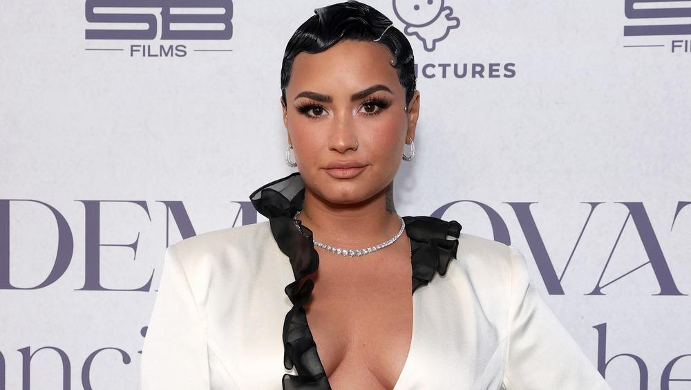 Demi Lovato asistiendo a un evento para su serie documental