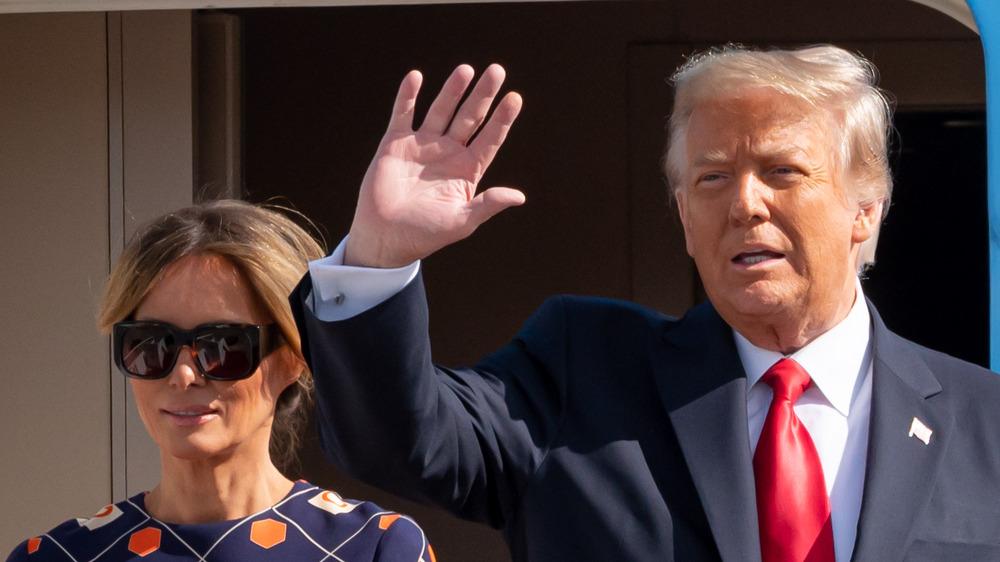 Melania y Donald Trump llegan a Mar-A-Lago