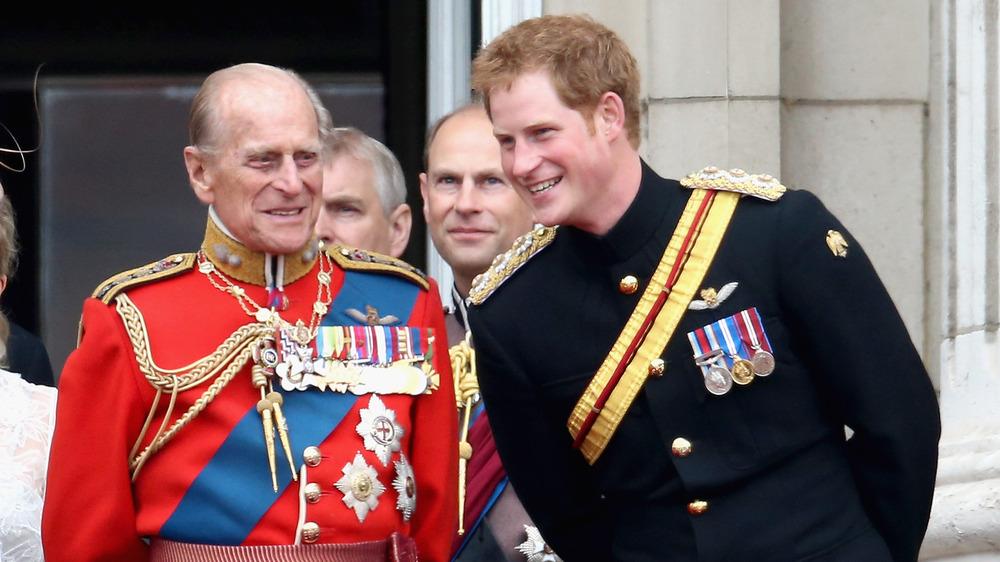 Príncipe Harry y Príncipe Felipe