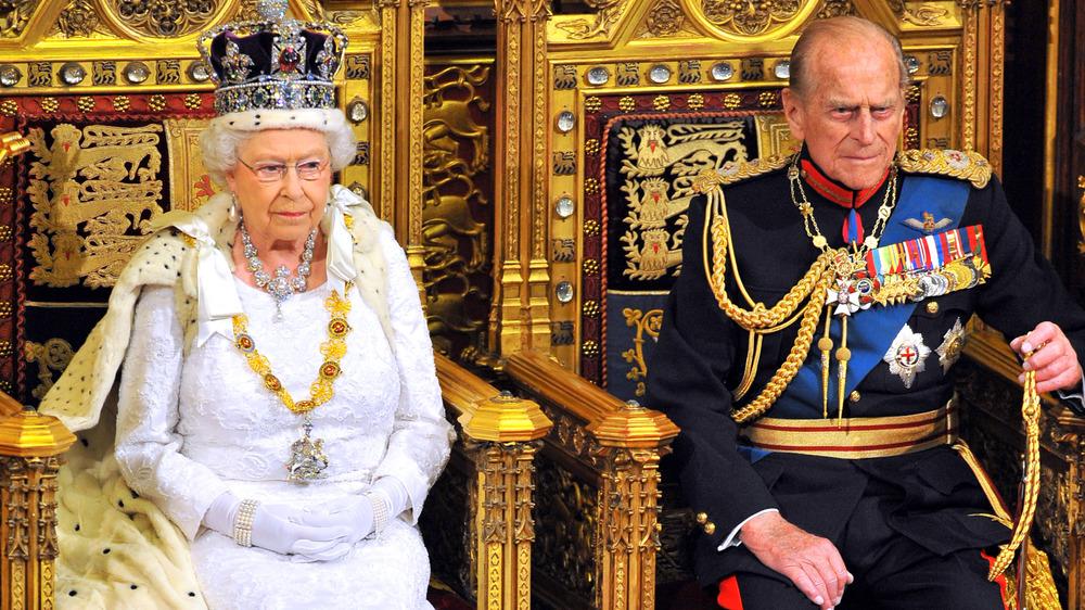 La reina Isabel y el príncipe Felipe en un evento