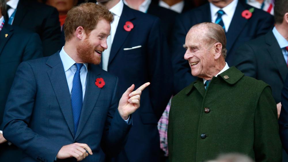 Príncipe Harry, Príncipe Felipe, hablando