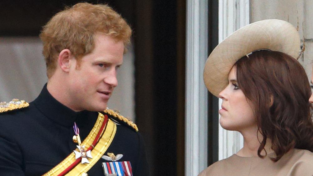 El príncipe Harry con la princesa Eugenia