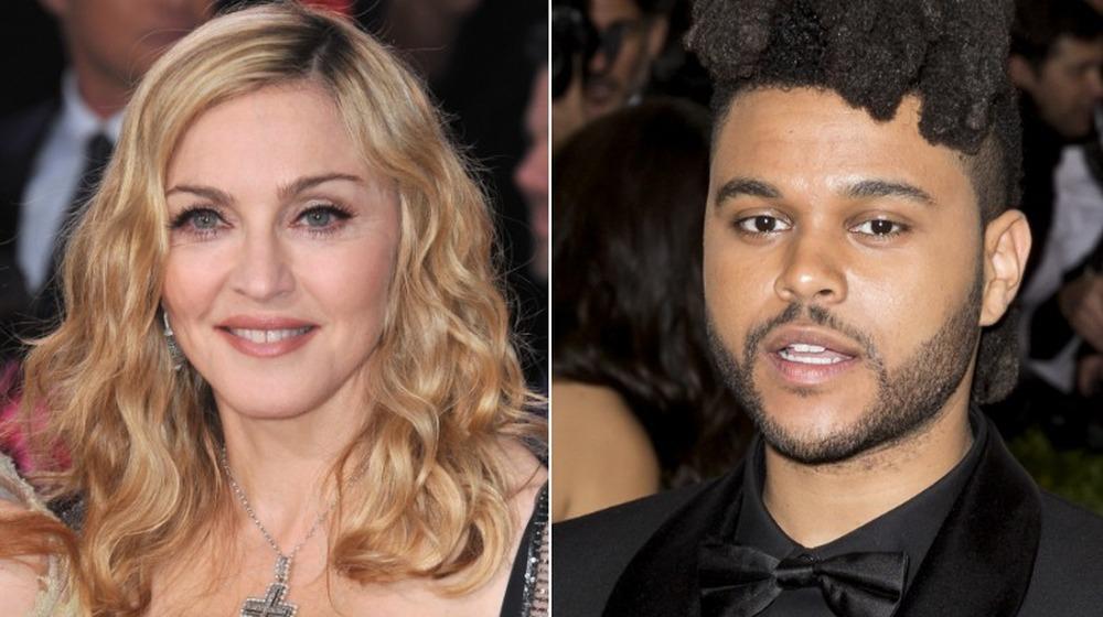 Madonna y The Weeknd uno al lado del otro