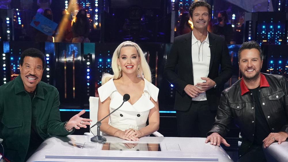 Lionel Richie, Katy Perry, Ryan Seacrest y Luke Bryan en 'American Idol'