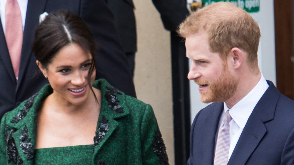 Meghan Markle y el príncipe Harry en el evento