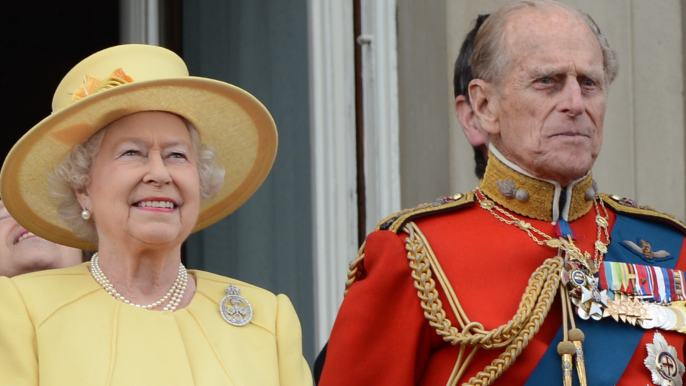 La reina Isabel y el príncipe Felipe en el evento