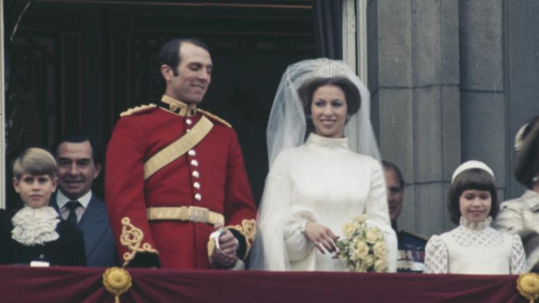 Foto de la boda del capitán Mark Phillips y la princesa Ana