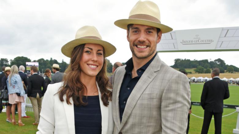 Lucy Cork y Henry Cavill en un partido de polo en 2017
