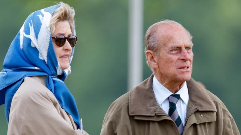 Penélope Knatchbull y el príncipe Felipe
