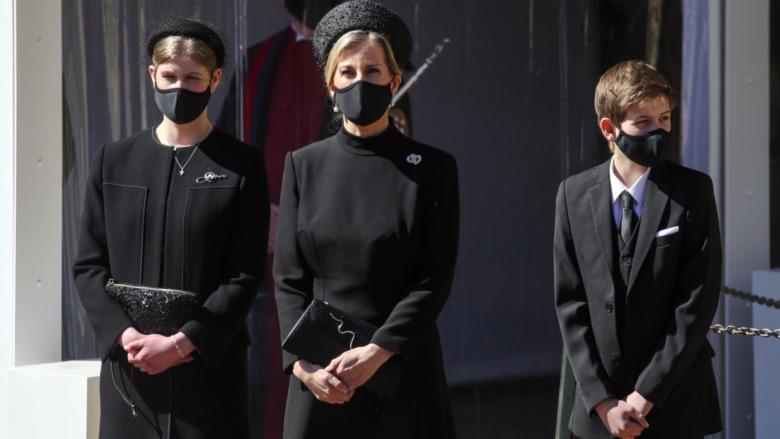 Lady Louise Windsor en el funeral del príncipe Felipe