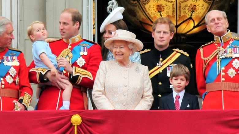 Familia real británica en el balcón del Palacio de Buckingham