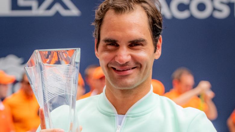 Roger Federer sonriendo