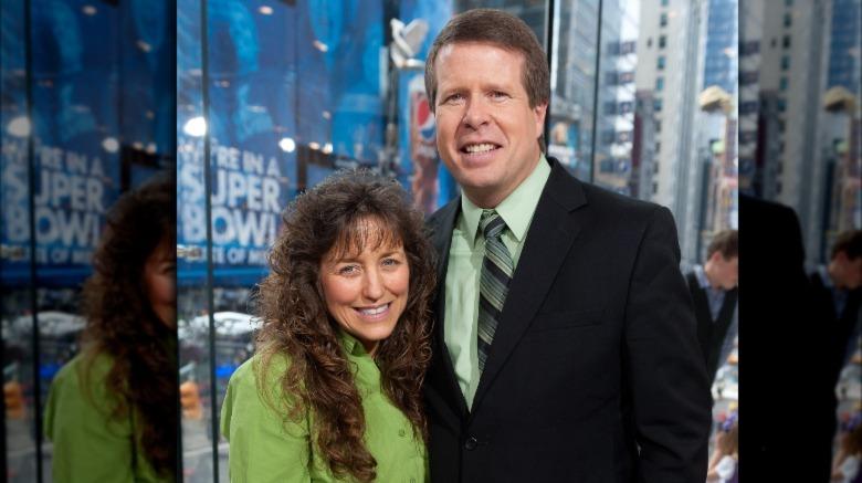 Michelle y Jim Bob Duggar sonriendo juntos