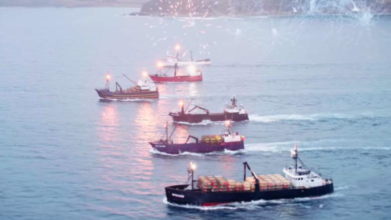 Los barcos de Deadliest Catch en el mar