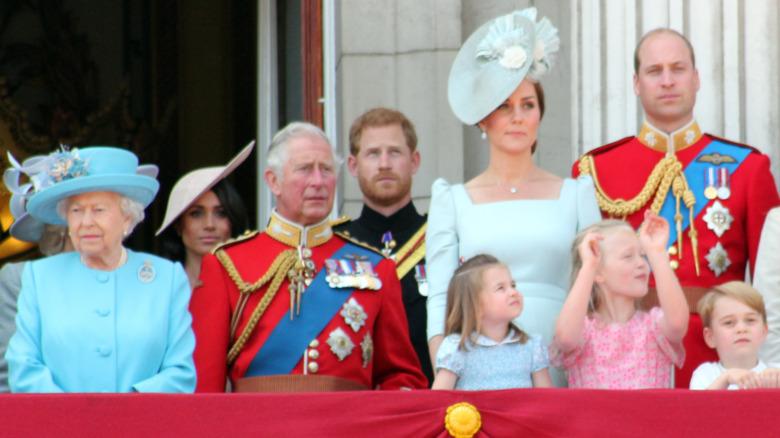La familia real en el balcón del Palacio de Buckingham