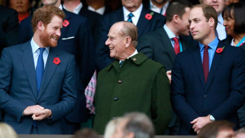 Príncipe Harry y Príncipe Felipe y Príncipe William