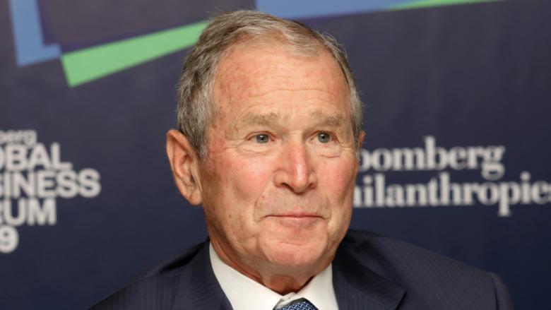 George W Bush asistiendo a un evento político