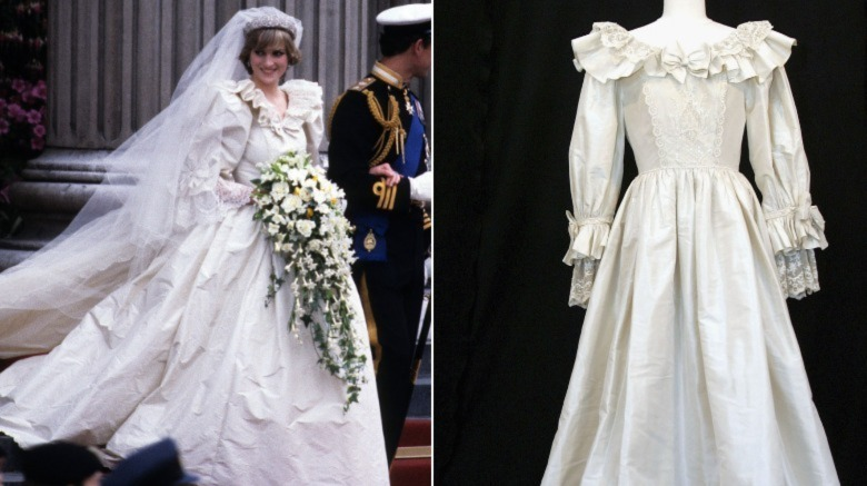 Vestido de boda de la princesa Diana