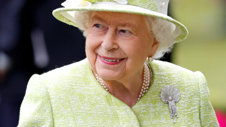 La reina Isabel en el Royal Ascot en junio de 2019