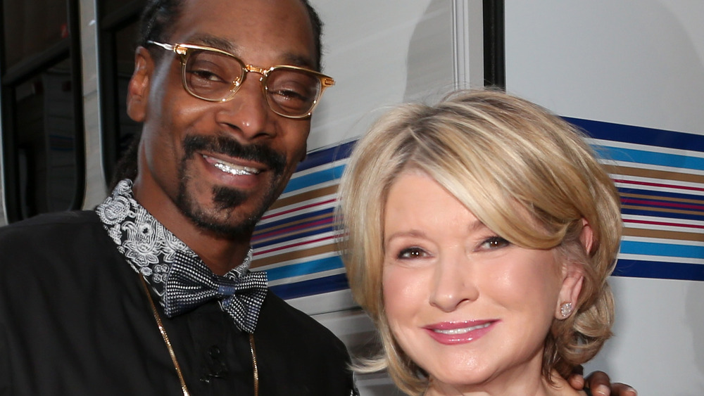 Snoop Dogg y Martha Stewart sonríen