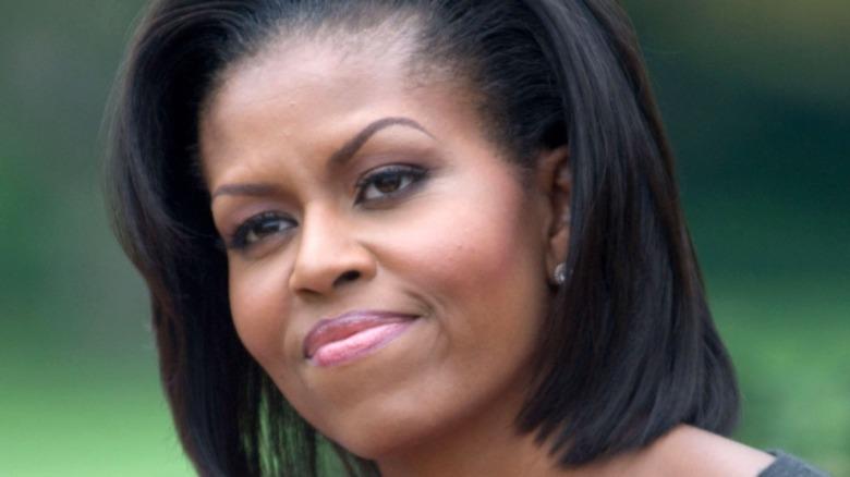 Michelle Obama de negro