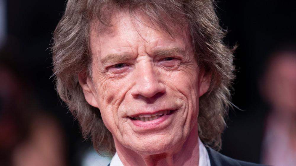 Mick Jagger en la alfombra roja