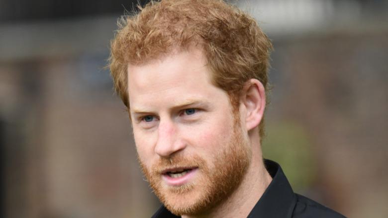 Príncipe Harry polo negro al aire libre