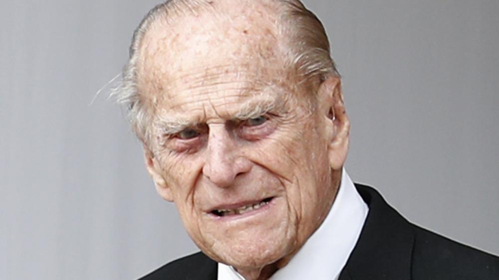 El príncipe Felipe asiste a la boda de la princesa Eugenia