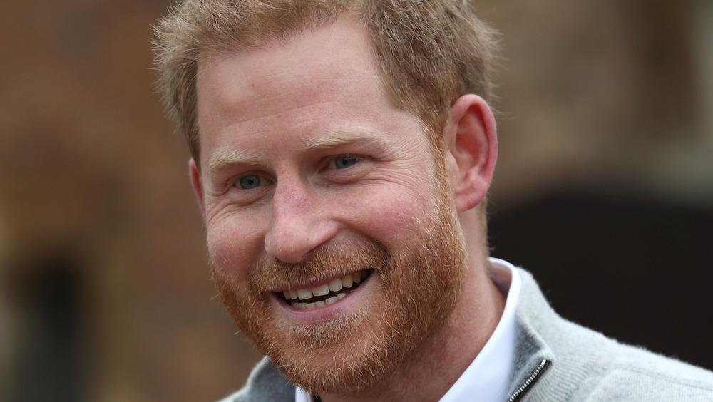 Príncipe Harry sonriendo