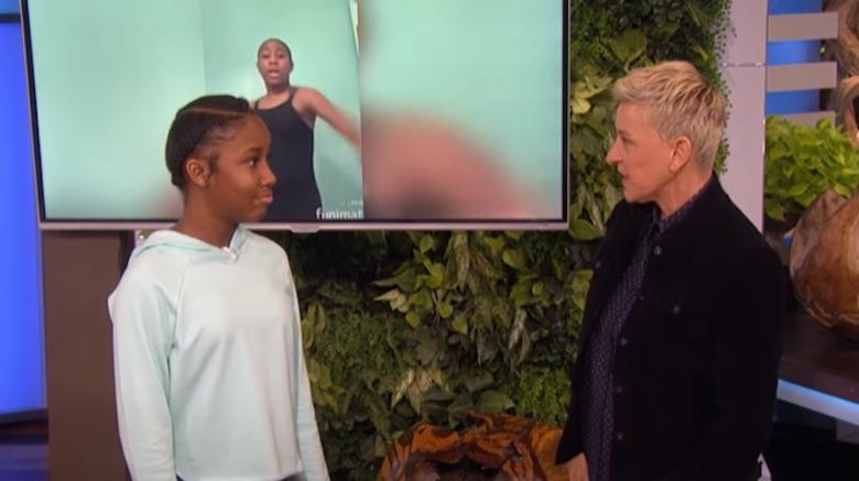 Jalaiah Harmon y Ellen DeGeneres en The Ellen Show