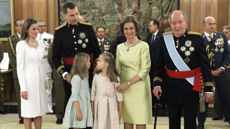 Familia real española posando 2014
