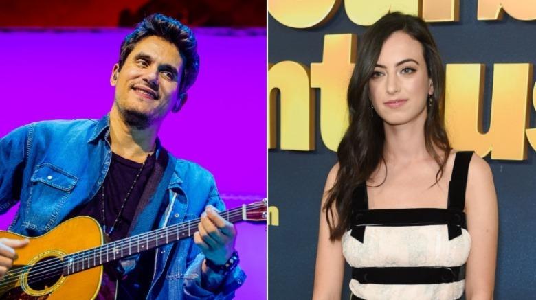John Mayer actuando en 2019 y Cazzie David