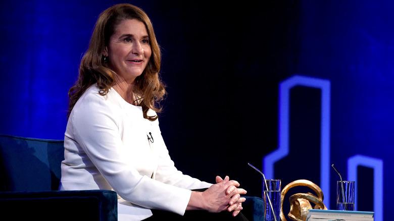 Melinda Gates hablando durante las conversaciones de SuperSoul de Oprah