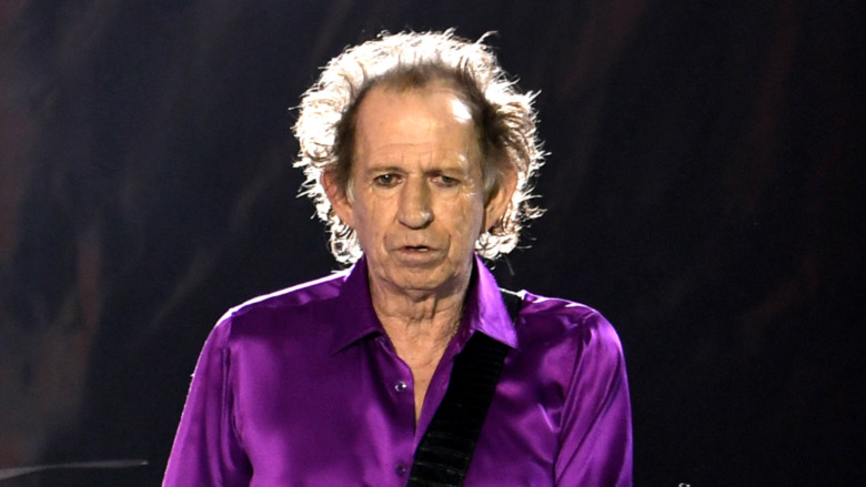 Keith Richards en el escenario