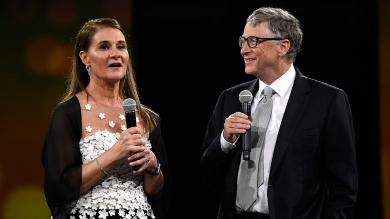 Melinda Gates, Bill Gates, hablando
