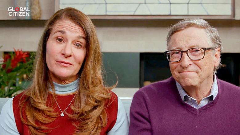 Bill y Melinda Gates hablan durante un evento virtual en 2020