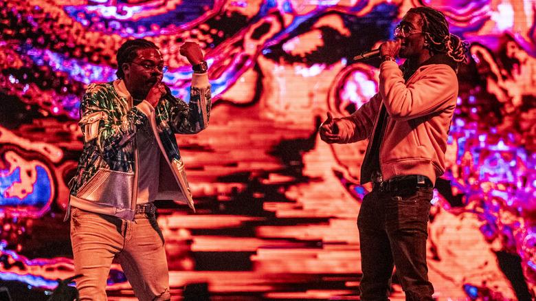Gunna y Young Thug en el escenario