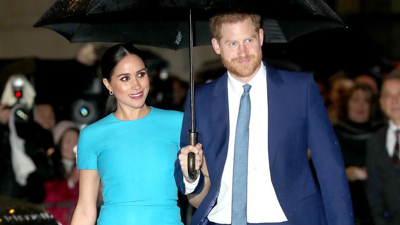El príncipe Harry y Meghan Markle en el evento de 2020