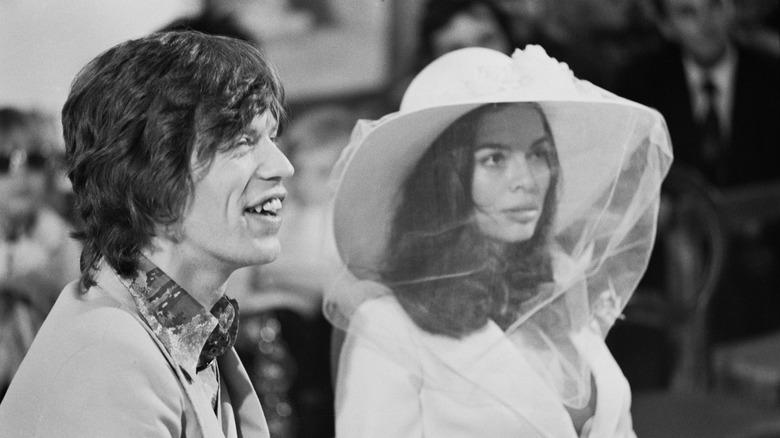Mick y Bianca Jagger en su boda en 1971.