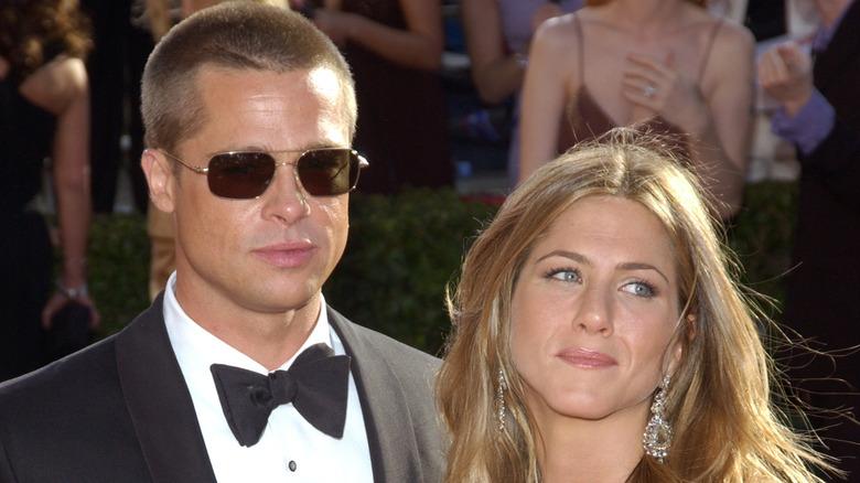 Brad Pitt y Jennifer Aniston en un evento