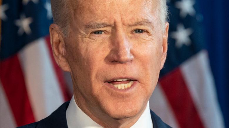 Joe Biden hablando en el evento de 2020