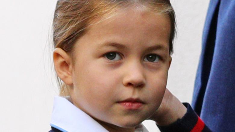 La princesa Charlotte posa