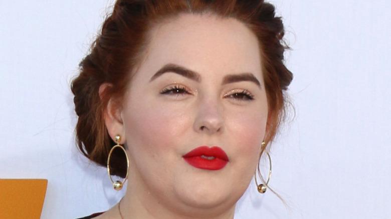 Tess Holliday en una alfombra roja