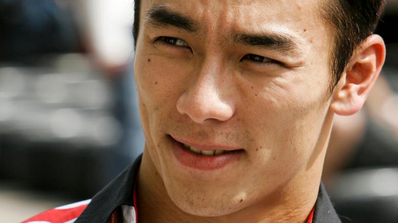 Takuma Sato en el evento de carreras